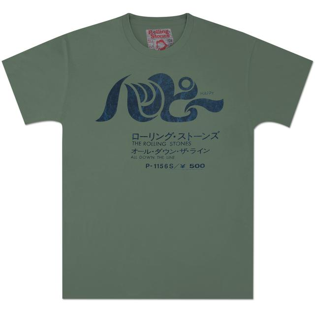 Rolling Stones Happy Vintage Green T-Shirt