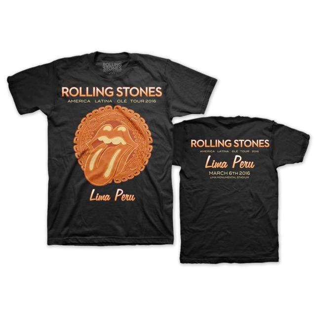 The Rolling Stones RS Ole! Lima Black Black Tee