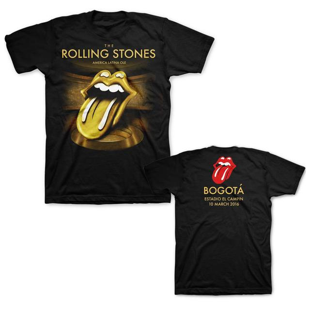 The Rolling Stones RS Bogota Gold Black Tee