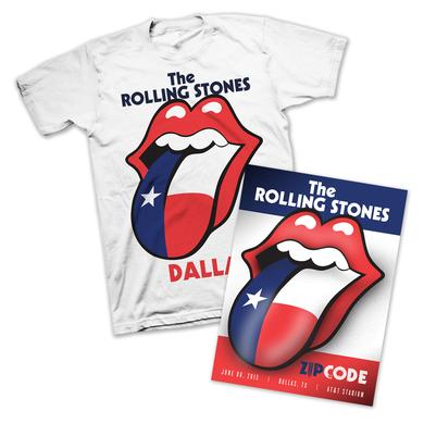 Rolling Stones Dallas Lone Star T-Shirt & Litho Bundle