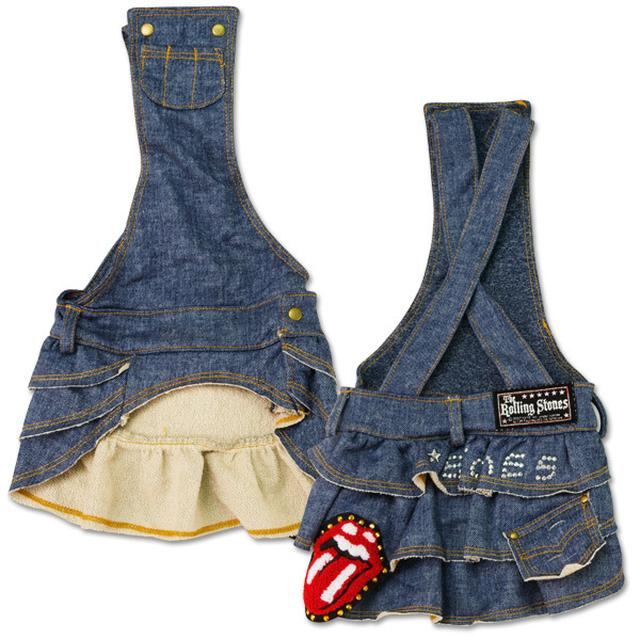 Rolling Stones - Blue Denim Doggie Overalls Skirt