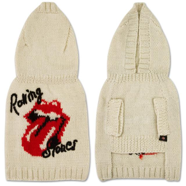 Rolling Stones - White Wool Doggie Shirt