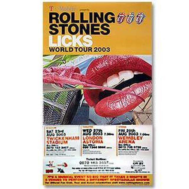 Rolling Stones - Jumbo European Gig Poster