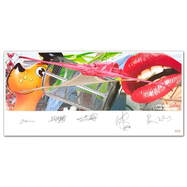 Rolling Stones - Licks Commemorative Tour Lithograph