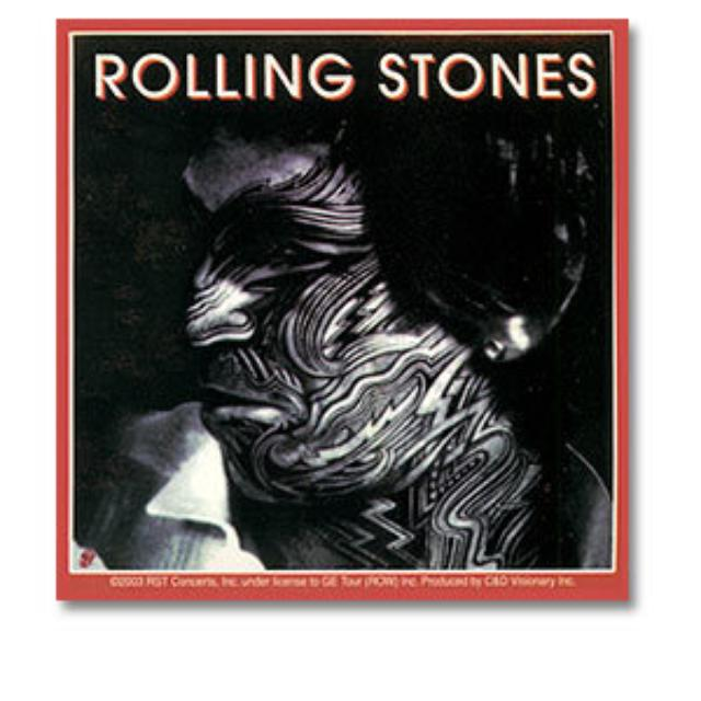 Rolling Stones - Keith Tattoo You Sticker