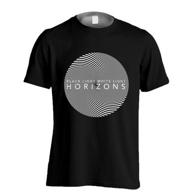 BLACK LIGHT WHITE LIGHT HORIZONS: Black T-Shirt