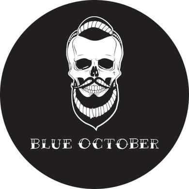 Blue October - Skull Beard Embroidered Patch