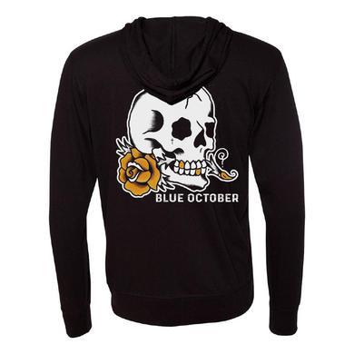 Blue October - Skull Rose Lightweight Hoodie