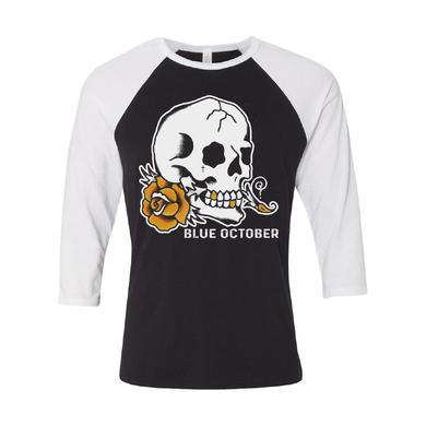 Blue October - Skull Rose Baseball Tee