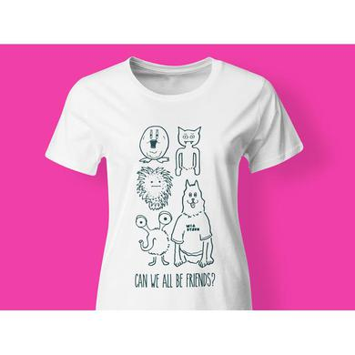 Mia Dyson - Can We All Be Friends Ladies Tee (White)