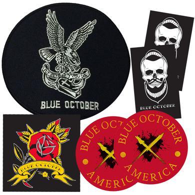 Blue October - Patch & Sticker Bundle