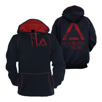 From Ashes to New Crazy Black/Red Hoodie