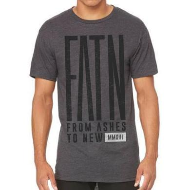 From Ashes to New Grey Longline FATN Tee (Faded Black Print)
