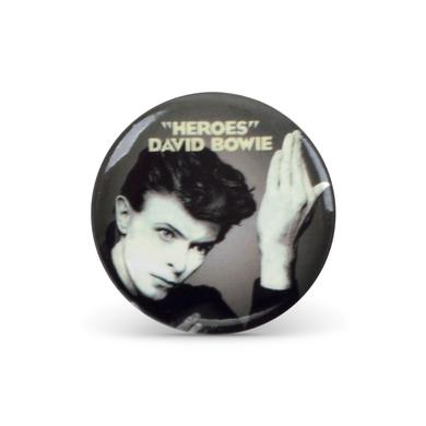 David Bowie Bowie Heroes Button Pin