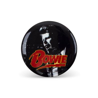 David Bowie Bowie B&W Button Pin