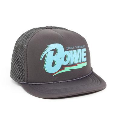 David Bowie Bowie Blue Logo Grey Hat