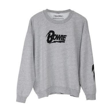 David Bowie Bowie Grey Sweatshirt with Bowie Logo