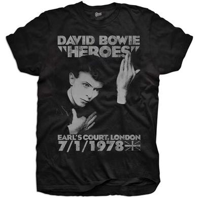 David Bowie Heroes Earls Court Youth T-Shirt