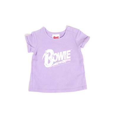 David Bowie Bowie Glitter Logo Purple Kids T-Shirt