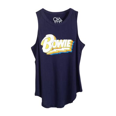 David Bowie White/Yellow Logo Tank