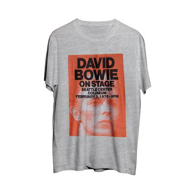 David Bowie Grey Seattle Coliseum February 1976 T Grey