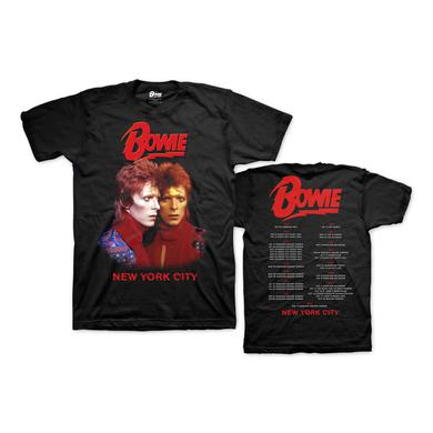 David Bowie Bowie Live in New York City Tour Tee