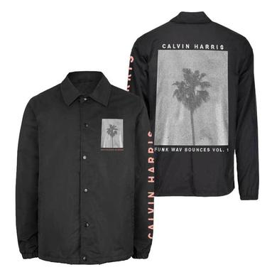 Calvin Harris PALM TREE BLACK COACHES JACKET