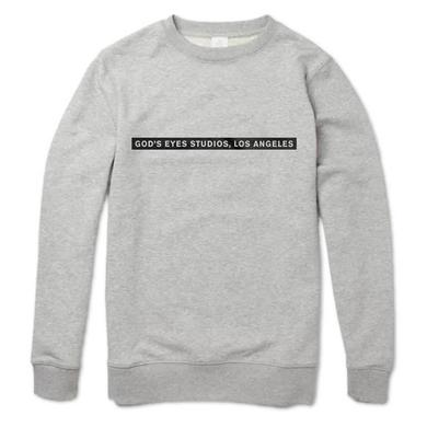 Calvin Harris GOD'S EYES STUDIOS' HEATHER GREY CREWNECK