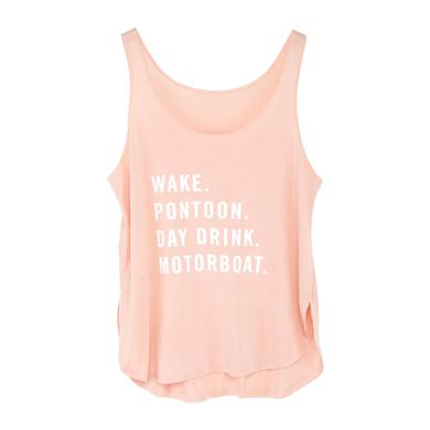 Little Big Town Pontoon Pink Tank Top