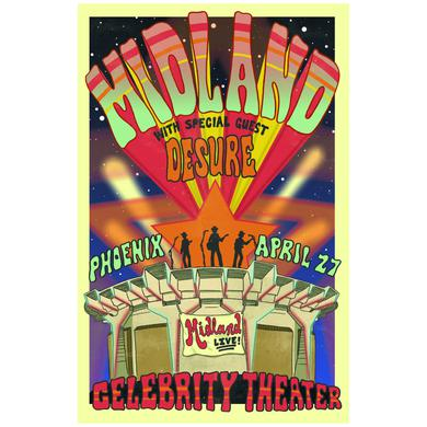 Midland Celebrity Theater Signed Lithograph