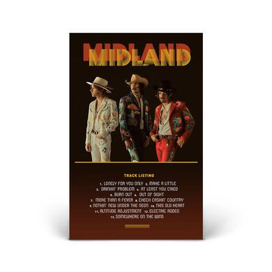 Midland On the Rocks Album Anniversary Signed Lithograph