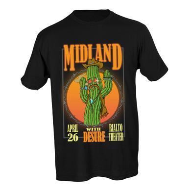 Midland Rialto Theatre Dancing Cactus T-shirt