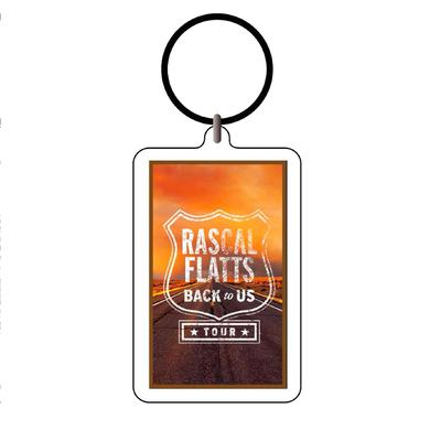 Rascal Flatts Back To Us Tour Logo Acrylic Keychain