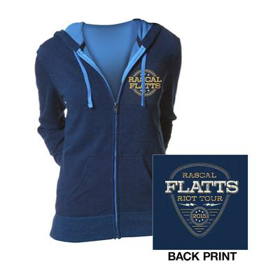 Rascal Flatts Royal Blue Riot Tour Zip Hoodie