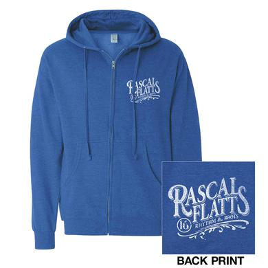 Rascal Flatts Heather Blue Rhythm & Roots 2016 Zip Hoodie