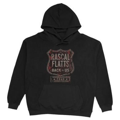 Rascal Flatts Back To Us Tour Logo Black Hoodie