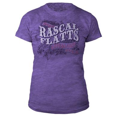 Rascal Flatts Live & Loud Purple Juniors T-Shirt