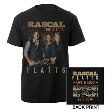 Rascal Flatts Live & Loud Black Dateback T-Shirt
