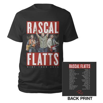 Rascal Flatts Rockin' Dateback Riot Tour 2015 T-Shirt