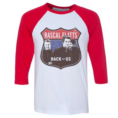 Rascal Flatts Back to Us Dateback Photo Raglan