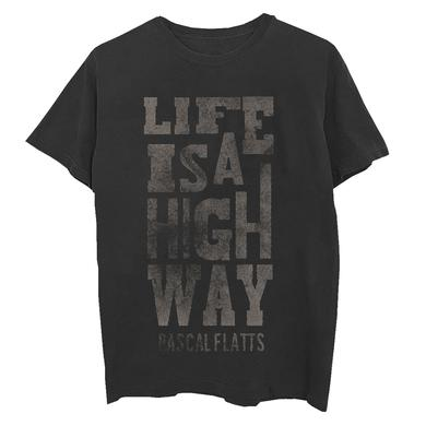 Rascal Flatts Life is a Highway Vintage Black T-Shirt