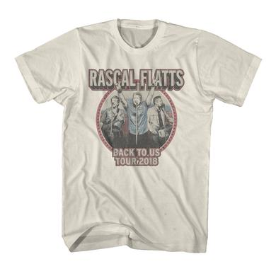 Rascal Flatts Back to Us Tour Natural Dateback T-Shirt