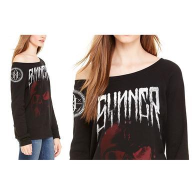 Gemini Syndrome Synner Skull Women's Wide Neck Sweatshirt