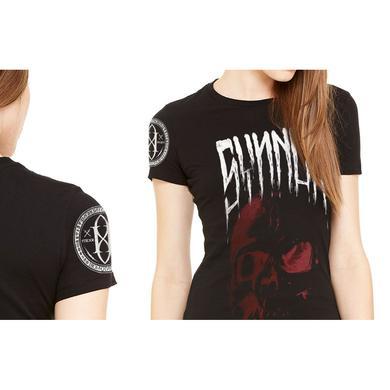 Gemini Syndrome Synner Skull Women's Fine Jersey T-Shirt