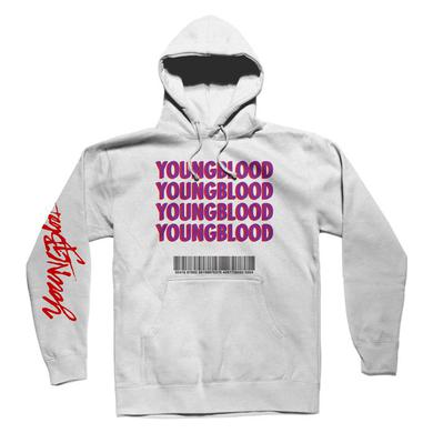 5 Seconds Of Summer White Youngblood Hoodie