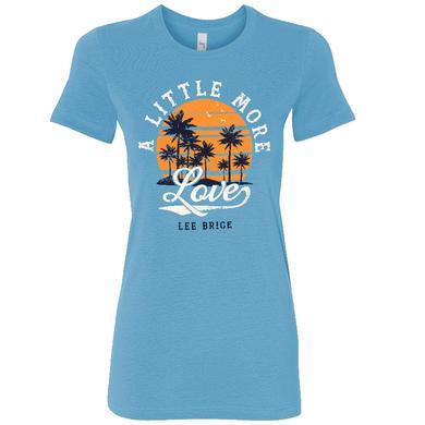 Lee Brice Ladies Ocean Blue A Little More Love Tee