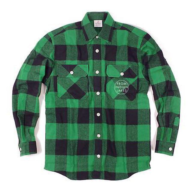From Indian Lakes Logo Extra Heavyweight Flannel