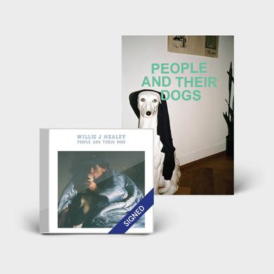 Willie J Healey PEOPLE AND THEIR DOGS - SIGNED CD + ZINE