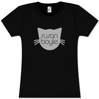 Susan Boyle Pebbles Black Missy T-Shirt