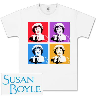 Susan Boyle Duotone Collage White T-Shirt